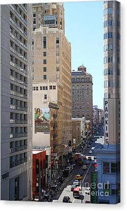Sutter Street West View Canvas Print by Wingsdomain Art and Photography
