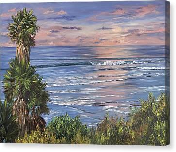 Swamis Sunset Canvas Print by Lisa Reinhardt