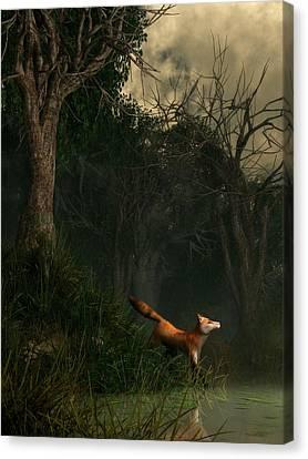 Swamp Fox Canvas Print by Daniel Eskridge