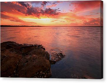 Swan Bay Sunset 2 Canvas Print by Paul Svensen