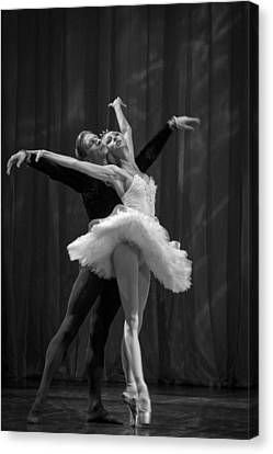 Young St. Clare Canvas Print - Swan Lake  White Adagio  Russia 2 by Clare Bambers