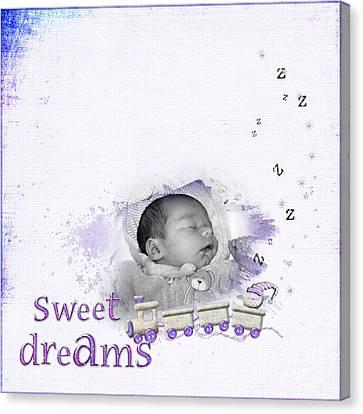 Sweet Dreams Canvas Print by Joanne Kocwin