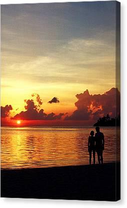 Sweet Golden Memory. Maldives Canvas Print by Jenny Rainbow