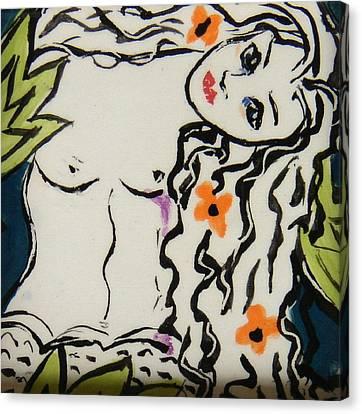 Sweet Mermaid Canvas Print by Patricia Lazar
