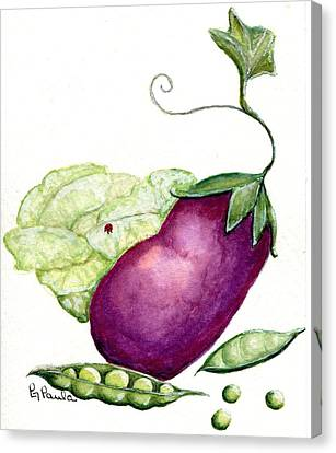 Sweet Pea Canvas Print by Paula Greenlee