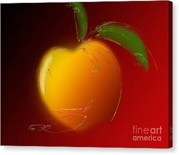 Sweet Peach 1 Canvas Print by Andee Design
