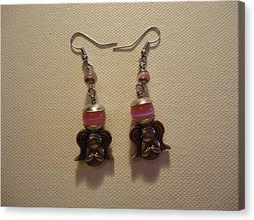 Sweet Pink Angel Earrings Canvas Print by Jenna Green