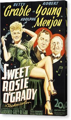 Sweet Rosie Ogrady, Betty Grable Canvas Print by Everett