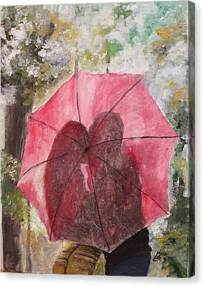 Sweet Valentine Canvas Print by Kim Selig