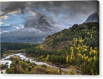 Swiftcurrent River Overlook Canvas Print by Mark Kiver