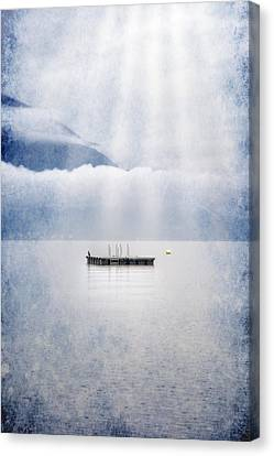 Swim Platform Canvas Print by Joana Kruse