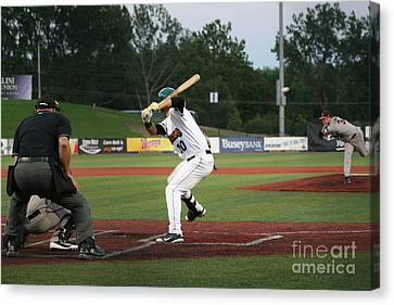 Swing Batter Canvas Print by Roger Look