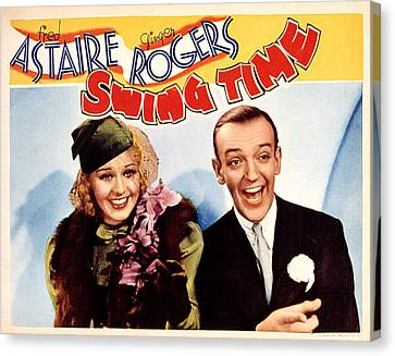 Swing Time, Ginger Rogers, Fred Canvas Print by Everett