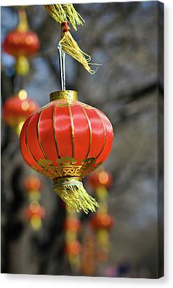 Swinging Chinese Lanterns Canvas Print by Jeremy Vickers Photography