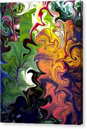 Swirled Leaves Canvas Print by Renate Nadi Wesley