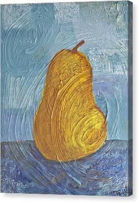 Swirling Pear Canvas Print by Wayne Potrafka