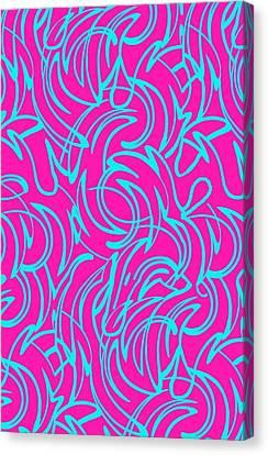 Swirls Canvas Print by Louisa Knight