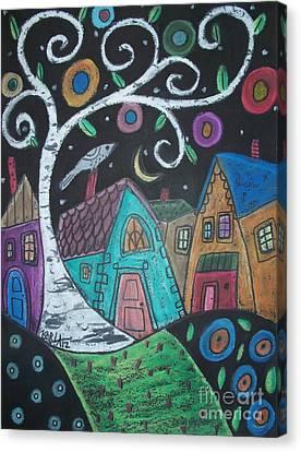 Swirly Birch Canvas Print