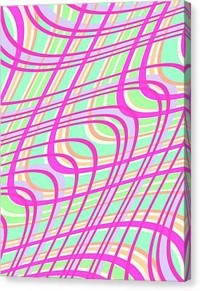 Swirly Check Canvas Print by Louisa Knight