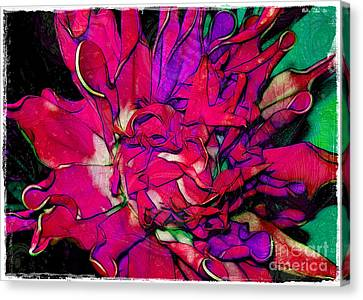 Swirly Fabric Flower Canvas Print by Judi Bagwell