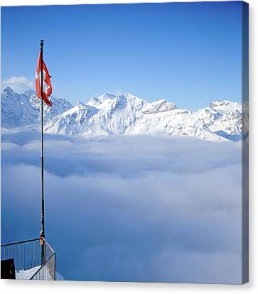 Swiss Alps Panorama Canvas Print by Image by Christian Senger