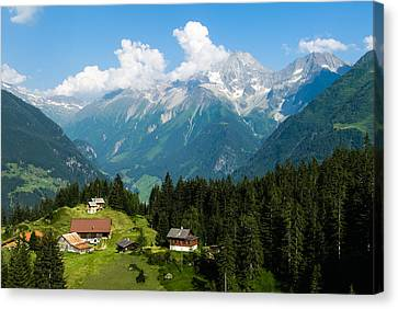 Swiss Alps Canvas Print by Thomas Lottermoser