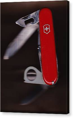 Swiss Army Knife Canvas Print by Karl Reid