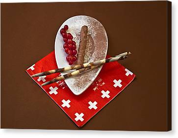 Swiss Chocolate Praline Canvas Print by Joana Kruse