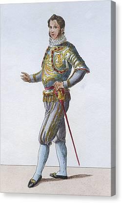 Full-length Portrait Canvas Print - Swiss Guard Captain by Hulton Archive