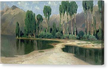 Swiss Landscape Canvas Print by Alexandre Calame