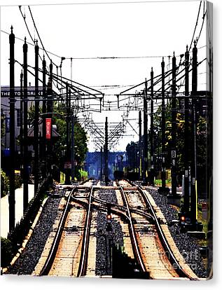 Switch Tracks Canvas Print