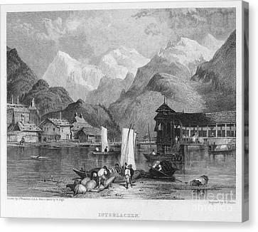 Switzerland: Interlachen Canvas Print by Granger