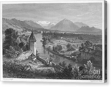 Switzerland: Thun, 1833 Canvas Print by Granger