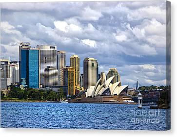 Sydney Harbour One Canvas Print by Rick Bragan