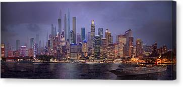Sydney's Future Canvas Print by Virginia Palomeque