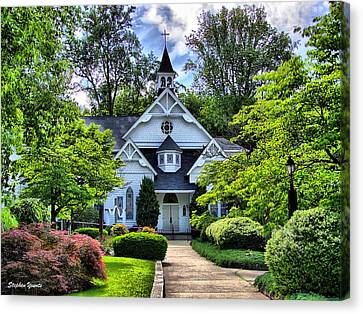 Sykesville Church Canvas Print by Stephen Younts