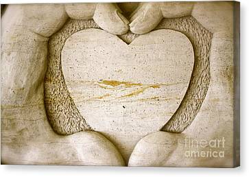 Symbol Of Love Canvas Print by Ted Wheaton