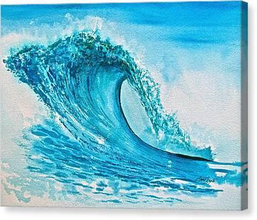 Symphony In Blue Green Canvas Print by Frank SantAgata