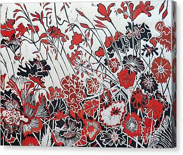 Symphony In Red Canvas Print by Belinda Nye