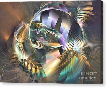 Interior Still Life Canvas Print - Symphony Of Colors - Fractal Art by Sipo Liimatainen