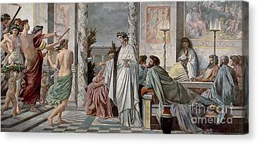 Rational Canvas Print - Symposium Of Plato by Photo Researchers