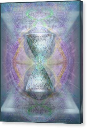 Synthesphered Grail On Caducus Blazed Tapestrys Canvas Print by Christopher Pringer