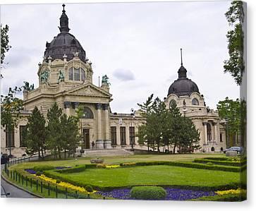 Szechenyli Baths - Budapest Canvas Print by Jon Berghoff