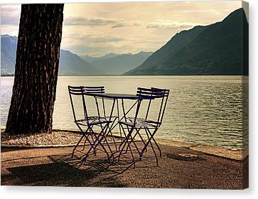 Table And Chairs Canvas Print by Joana Kruse