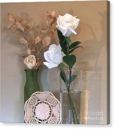 Table Centerpiece Canvas Print by Marsha Heiken