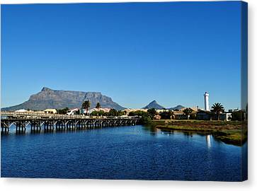 Canvas Print featuring the photograph Table Mountain by Werner Lehmann