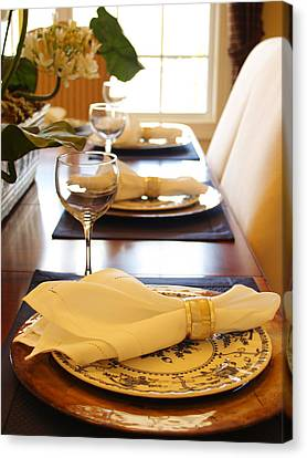 Table Set For Dinner Canvas Print by Jeremy Allen