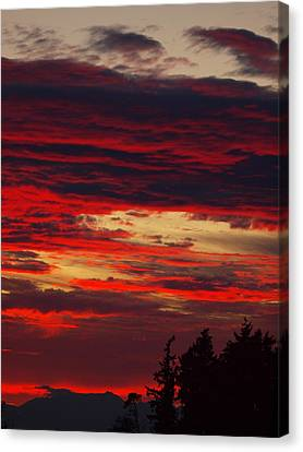 Tacoma Sunset 3 Canvas Print by Jim Moore
