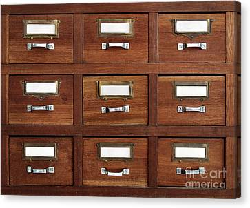 Tagged Drawers Canvas Print by Carlos Caetano