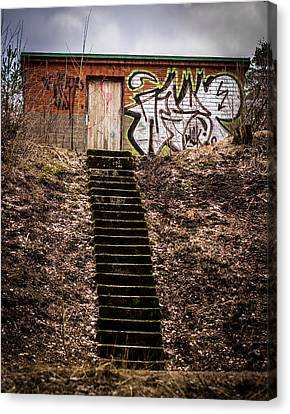 Canvas Print featuring the photograph Tagstairs by Matti Ollikainen